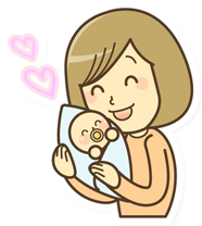 赤ちゃん・お子様連れOKのイラスト